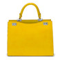 Anna Maria Luisa: Radica Range Collection – Large Italian Calf Leather Top Handle Handbag in Yellow