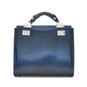 Anna Maria Luisa: Radica Range Collection – Medium Italian Calf Leather Top Handle Handbag in Blue