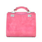 Anna Maria Luisa: Radica Range Collection – Medium Italian Calf Leather Top Handle Handbag in Pink