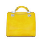 Anna Maria Luisa: Radica Range Collection – Medium Italian Calf Leather Top Handle Handbag in Yellow