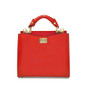 Anna Maria Luisa: Radica Range Collection – Small Italian Calf Leather Top Handle Handbag in Cherry