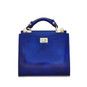 Anna Maria Luisa: Radica Range Collection – Small Italian Calf Leather Top Handle Handbag in Electric Blue