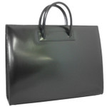 Alberti : Radica Range Collection –  Large Italian Calf Leather Tote Handbag in - Black