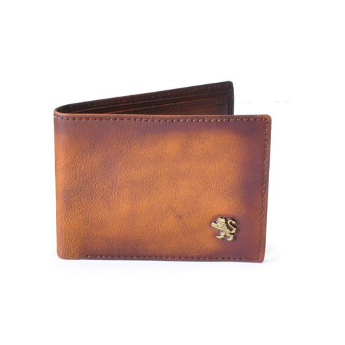 Cappelle Medicee: Bruce Range Collection – Italian Calf Leather Bi-Fold Wallet in Brown Main View