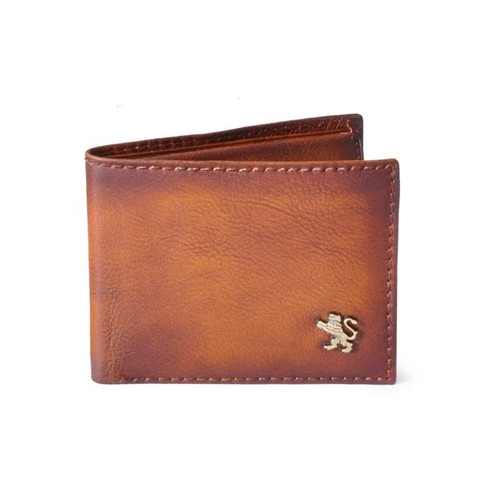 Galleria dell'Accademia: Bruce Range Collection – Italian Calf Leather Bi-Fold Wallet in Uomo (Brown)