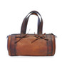 Marisol: Bruce Range Collection – Italian Calf Leather Duffel Tote Bag Back View