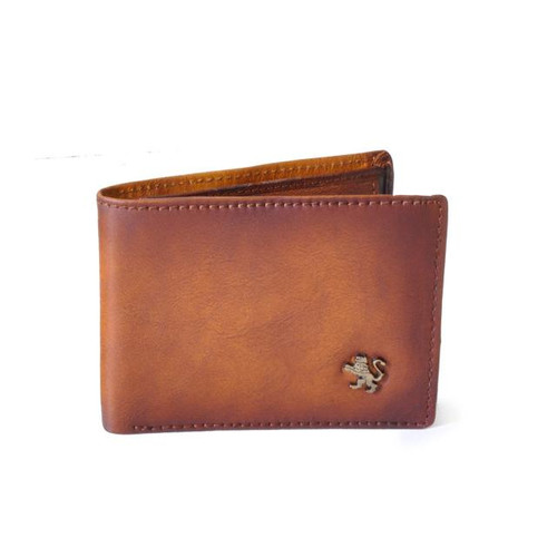 Cappella Brancacci: Bruce Range Collection – Italian Calf Leather Flap Over Men's Wallet in Brown
