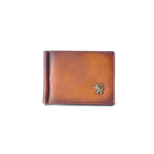 Casa Buonarroti: Bruce Range Collection – Italian Calf Leather Bi-Fold Flap Men's Wallet in Brown