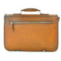 Secchieta: Bruce Range Collection – Italian Calf Leather Laptop Messenger Bag in Cognac- Back view
