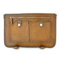 Secchieta: Bruce Range Collection – Italian Calf Leather Laptop Messenger Bag in Cognac - Open view