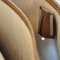 Secchieta: Bruce Range Collection – Italian Calf Leather Laptop Messenger Bag in Cognac - Inside view
