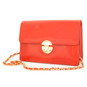 Lucrezia: Radica Range Collection – Italian Calf Leather Cross Body Clutch in Cherry Side View