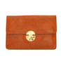 Lucrezia: Radica Range Collection – Italian Calf Leather Cross Body Clutch in  Chianti
