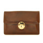 Lucrezia: Radica Range Collection – Italian Calf Leather Cross Body Clutch in Coffee