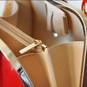 Saturnia: Radica Range Collection – Small Italian Calf Leather Top Handle Tote Handbag -  Inside Light View