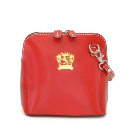 Volterra: Radica Range Collection – Italian Calf Leather Cross body Handbag in Cherry