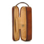 Bacco: Bruce Range Collection – Italian Calf Leather Wine Case in Brown in Brown Open View