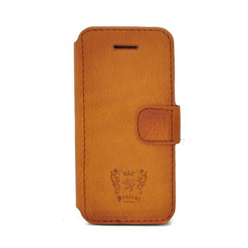 CoiPhone 5 Case : Bruce Range Collection – Italian Calf Leather Phone Cover in Cognac