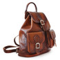 Caporalino: Bruce Range Collection – Italian Calf Leather Buckle Flap Backpack  - in Side View