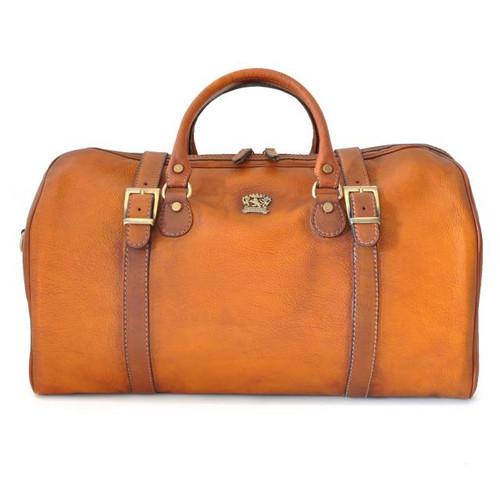 Perito Moreno: Bruce Range Collection – Italian Calf Leather Travel Duffel in Cognac