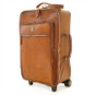 Polinesia: Bruce Range Collection – Italian Calf Leather Wheeled  Trolley Suitcase in Brown