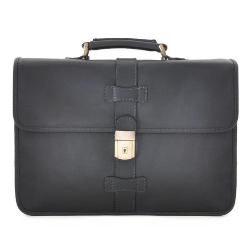 Anghiari Bruce Range Collection Document Briefcase in Black