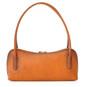Sansepolcro: Bruce Range Collection – Italian Calf Leather Baguette Shoulder Bag in Cognac (back view)
