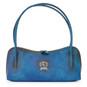 Sansepolcro: Bruce Range Collection – Italian Calf Leather Baguette Shoulder Bag in Blue