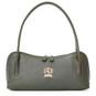 Sansepolcro: Bruce Range Collection – Italian Calf Leather Baguette Shoulder Bag in Green