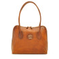 Talla: Bruce Range Collection – Italian Calf Leather Tote Shoulder Bag in Brown