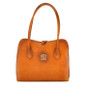Talla: Bruce Range Collection – Italian Calf Leather Tote Shoulder Bag in Cognac