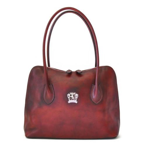 Talla: Bruce Range Collection – Italian Calf Leather Tote Shoulder Bag in Chianti