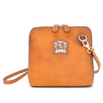 Volterra: Bruce Range Collection – Italian Calf Leather Cross-body Handbag in Cognac