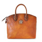 Versilia: Bruce Range Collection – Italian Calf Leather Cross body Tote Handbag in Cognac