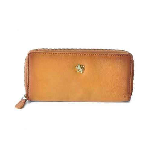 Museo Stibbert: Bruce Range Collection – Italian Leather Calf Leather Zip-around Wallet in Cognac