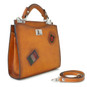 Anna Maria Luisa: Bruce Range Collection – Small Italian Calf Leather Top Handle Handbag in Cognac Side View