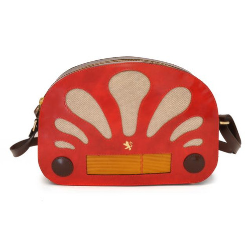 Radio Days: Radica Range Collection - Italian Calf Leather Cross body Bag in Cherry