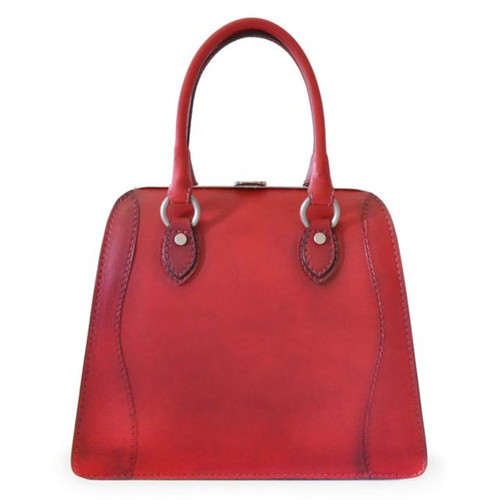 Saturnia: Bruce Range Collection – Grande Italian Calf Leather Top Handle Tote Handbag Cherry