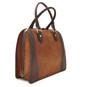 Saturnia: Bruce Range Collection – Grande Italian Calf Leather Top Handle Tote Handbag Brown Main View