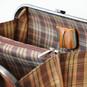 Saturnia: Bruce Range Collection – Grande Italian Calf Leather Top Handle Tote Handbag in Brown Closeup View