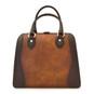 Saturnia: Bruce Range Collection – Grande Italian Calf Leather Top Handle Tote Handbag Brown