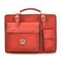 Milano: Bruce Range Collection – Italian Calf Leather Tophandle Briefcase in Cherry