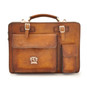 Milano: Bruce Range Collection – Italian Calf Leather Tophandle Briefcase in Brown