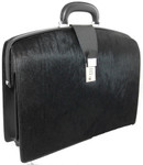 The Brunelleschi: Cavallino Range Collection – Italian Calf  Leather Lawyer Briefcase in Black