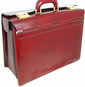 Lorenzo Magnifico II : Radica Range Collection – Triple Compartment Italian Calf Leather Briefcase  in Chianti
