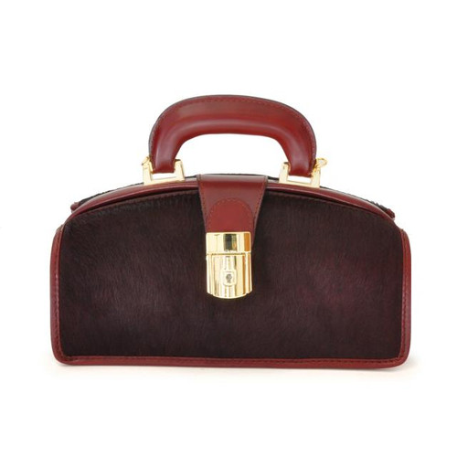 Lady Brunelleschi: Cavallino Range Collection - Italian Calf Leather Top handle Handbag in Coffee