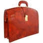 Brunelleschi: King Croco Range Collection - Grande Italian Calf  Leather Lawyer Briefcase - Side View