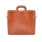 Raffaello: Radica Range Collection – Italian Calf Leather Top-Handle Laptop Briefcase in - Brown