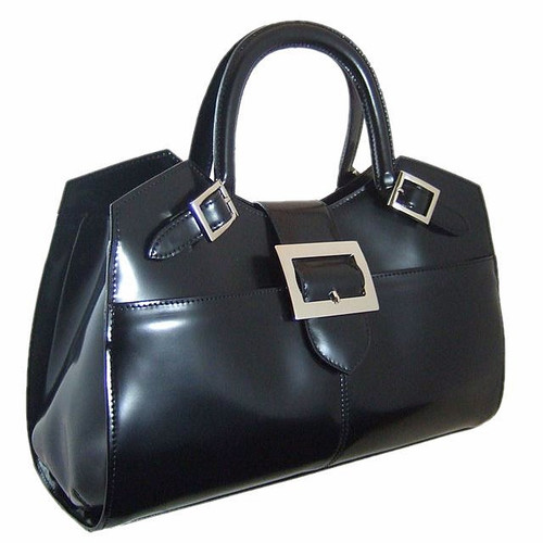Piero della Francesca: Radica Range Collection – Italian Calf Leather Laptop Handbag  in Black