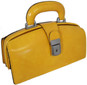 Lady Brunelleschi: Radica Range Collection – Italian Calf Leather Top Handle Lady Doctor Handbag in Yello